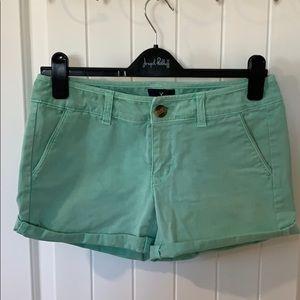 American Eagle light green shorts.